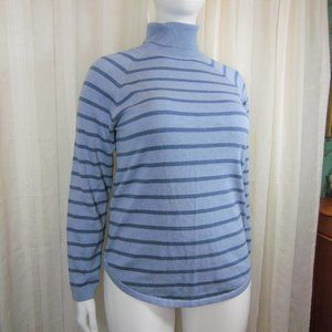 Jeanne Pierre Striped blue Turtle Neck